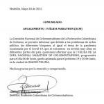 Nuevamente cambió la fecha de la copa de Maratón en Ibagué