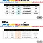 Calendario Copa Cundinamarca 2018 - XC - DH - XCE