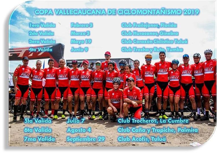 Calendario Copa Valle 2019