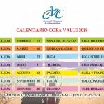 Calendario Copa Valle 2018