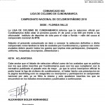 Comunicado Cundinamarca para Avalados al Nacional