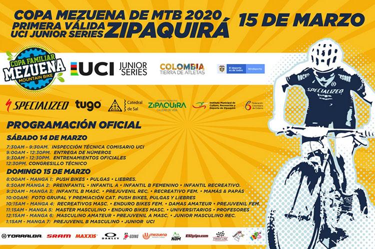 No se pierdan este fin de semana la Copa Mezuena UCI en Zipaquirá