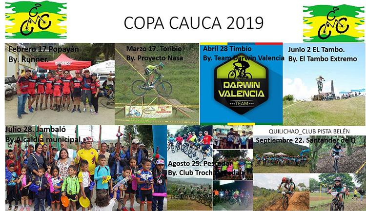 Calendario Comisión de Ciclomontañismo de Cauca