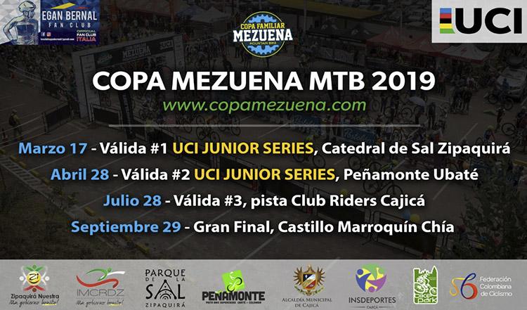 La Copa Mezuena 2019 realizará 2 eventos UCI