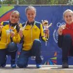 Dos medallas de oro  y una de plata en el XCO de los juegos Juveniles Suramericanos de Chile