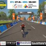 Torres, Monroy, Abril y Nieto campeones de la 1a copa virtual del Mtb 2020